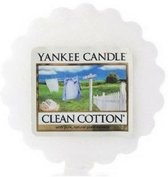 Yankee Candle Wax Melt Clean Cotton (3 stuks)