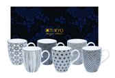 Tokyo Design Studio Nippon Black Mokken - 380 ml - 6 stuks