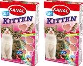 Sanal Kittensnack per 2 verpakkingen van 30 gram