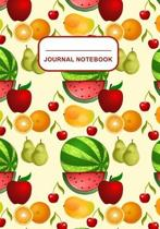 Journal Notebook: Journal, Notebook, Or Diary - Fruits Pattern Cover Design - 120 Blank Lined Pages - 7'' X 10'' - Matte Finished Soft Cov