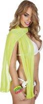 Sjaal See-through neongeel (160 x 27 cm)