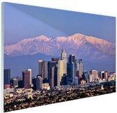 Los Angeles met bergen Glas 120x80 cm - Foto print op Glas (Plexiglas wanddecoratie)