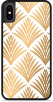 iPhone X Hardcase hoesje Art Deco Gold