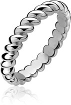 Zinzi - Zilveren Gedraaide Ring - Maat 62 (ZIR604-62)
