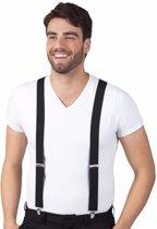 Zwarte bretels voor volwassenen - One size - 2,5cm breed
