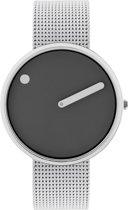 Picto 43352-0820 - Horloge - Staal - Zilverkleurig - Ø 40 mm