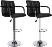 TecTake barkruk - Set van 2 barkrukken barstoel tafelkruk kruk, design - 401572