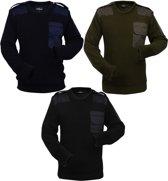 vidaXL Werktrui 3 st. blauw/groen/zwart maat XL man