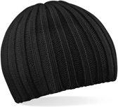 Beechfield Chunky Knit Beanie Zwart