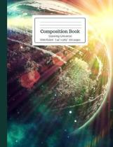 Composition Book Glowing Universe Wide Ruled