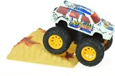 Toi-toys Metal Frictie Monstertruck 9cm Wit