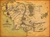 Map of Middle Earth - Canvas Poster 89 x 60 cm