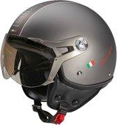 Beon Design Luxe - Titanium - Jethelm - Scooterhelm - Motorhelm - M