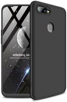 Teleplus Oppo AX7 360 Full Protection Hard Cover Case Black hoesje