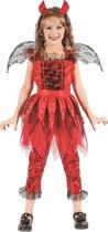 Vurige duivel kostuum voor meisjes - Verkleedkleding