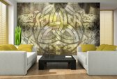 Yellow | Brown Photomural, wallcovering