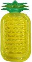 Opblaasbaar ananas luchtbed 90 x 195 cm - Strand/zwembad luchtbedden