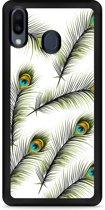 Huawei Y6 2019 Hardcase hoesje Peacock Feathers