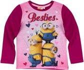 Minions-T-shirt-met-lange-mouw-paars - Maat 152