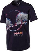 PUMA Red Bull Racing Double Bull Tee Shirt Heren - NIGHT SKY