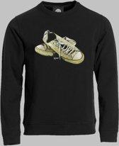 Sweater V Lage sneakers in wit 2 - Zwart - V - L Sporttrui