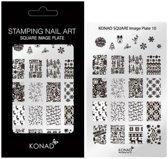 KONAD Square stempelplaat nagels 10 met 24 nagel figuurtjes.