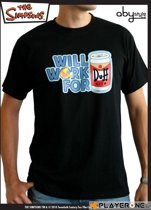 Merchandising SIMPSONS - T-Shirt Men black Duff (S)