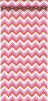 HD vliesbehang zigzag koraal rood en roze - 138135 ESTAhome.nl
