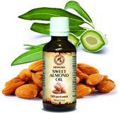 Amandel olie zoet 50 ml, 100% zuiver en natuurlijke basisolie, rijk aan mineralen & vitamines, intensieve lichaamsverzorging / massage / wellness / ontspanning / aromatherapie / etherische olie / alternatieve geneeskunde van AROMATIKA