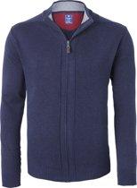 Redmond heren vest katoen - marine blauw (met rits) -  Maat XL