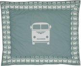 Taftan - Boxkleed - Bestelbusje - 100 x 80 cm - grijs groen