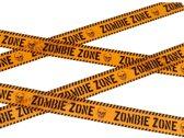 Markeerlint Zombie zone - 6 meter - Halloween / horror versiering