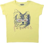 DJ Dutchjeans Meisjes T-shirt - Faded yellow - Maat 128