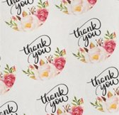 12 Thank You stickers Bloem