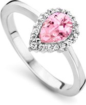 Orphelia ZR-7226/PI/52 Zilver Ring Drop Pink Color Zirconium