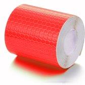 Reflecterende Sticker Tape - Rode reflectie plakband op rol van 200x5cm - Deze zelfklevende reflectietape is duurzaam, zelfklevend, weerbestendig, waterdicht en een sterke kleefkracht