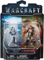 Warcraft Mini Figures - Alliance Soldier vs Durotan