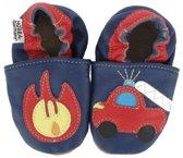 Hobea babyslofjes met zooltje Feuerwehr mit Feuer blau Maat: 22-23 (15,0 cm)