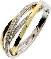 The Jewelry Collection Ring Diamant 0.19 Ct. - Bicolor Goud (14 Krt.)