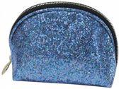 Studio Sweet & Sour make-up tasje rond, kleur glitter blauw