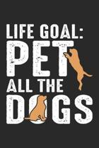 Life Goal: Pet All The Dogs Dot Grid Journal, Diary, Notebook 6 x 9 inches with 120 Pages