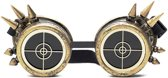 Steampunk goggles zonnebril - brons radar spikes - bril goud rave