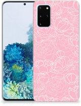 Samsung Galaxy S20 Plus Siliconen Hoesje White Flowers