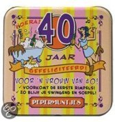 Pepermunt Blikje - 40 jaar vrouw (incl. 70 gram pepermunt)