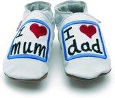 Starchild babyslofjes I love mum and dad white