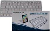 Wireless Bluetooth Keyboard geschikt voor iPhone, iPad, iPod, Samsung, Tablets, Android, LG, Huawei - QWERTY - Universeel - Grijs - Grey