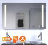 Praktische LED spiegel met spiegelverwarming en sensor 100x60 cm