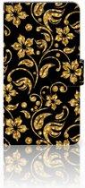 Huawei Honor 5X Boekhoesje Design Gouden Bloemen