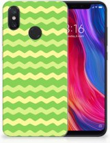 TPU bumper Xiaomi Mi 8 Waves Green