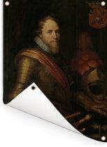 Portret van Maurits - Schilderij van Michiel Jansz van Mierevelt Tuinposter 30x40 cm - klein - Tuindoek / Buitencanvas / Schilderijen voor buiten (tuin decoratie)